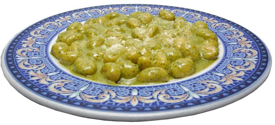 Gnocchi con Salsa Roquefort