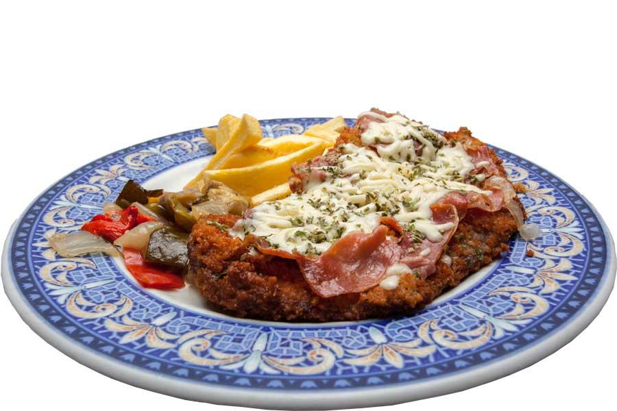 Escalope Siciliana Gratinado de Serrano y Queso